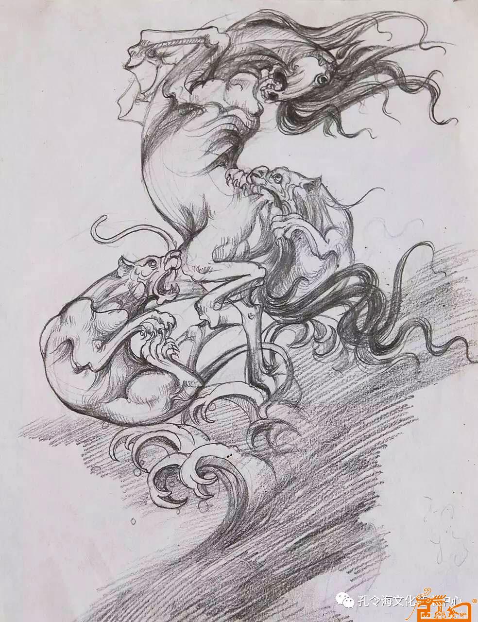 名家 孔令海 国画 - 手绘动物图稿1